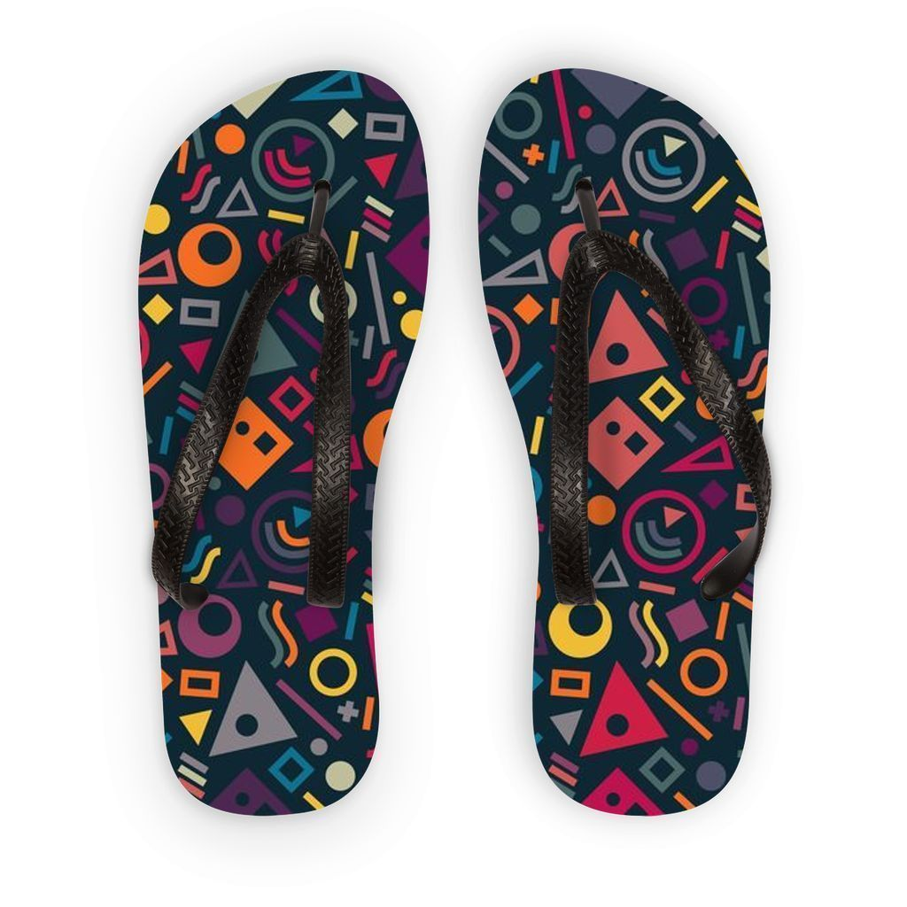 VIRGIN TEEZ Accessories S Pattern 18 Flip Flops