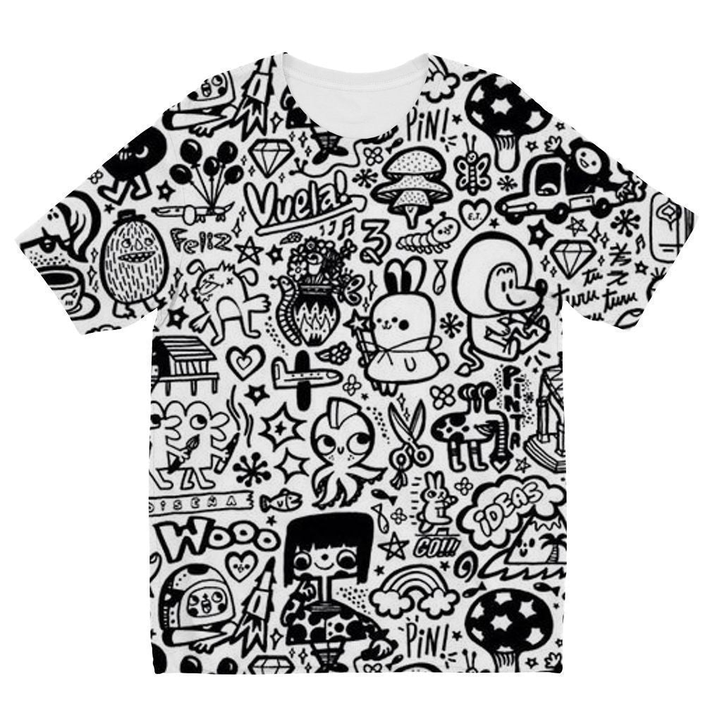 VIRGIN TEEZ Sublimation kids T-Shirt 3-4 Years Pattern 33 Kids' Sublimation T-Shirt