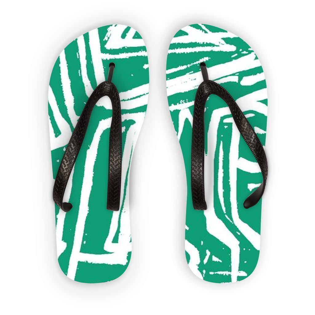 VIRGIN TEEZ Accessories S Pattern 36 Flip Flops