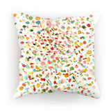 "kite.ly Homeware Faux Suede / 18""x18"" Pattern 37 Cushion"