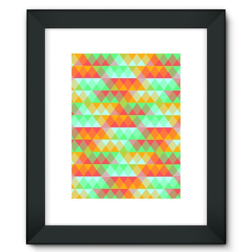"kite.ly Wall Decor 12""x16"" / Black Pattern 42 Framed Fine Art Print"