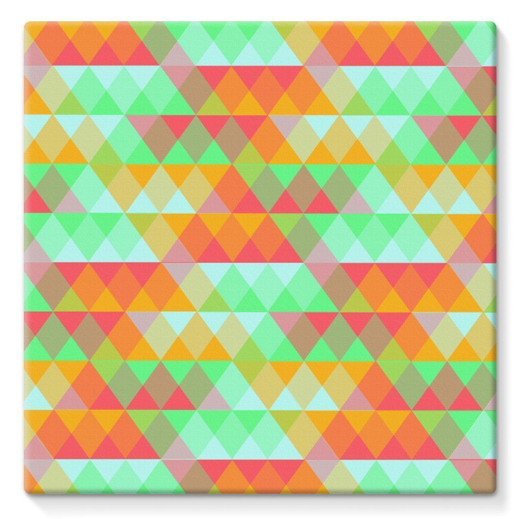 "kite.ly Wall Decor 10""x10"" Pattern 42 Stretched Canvas"