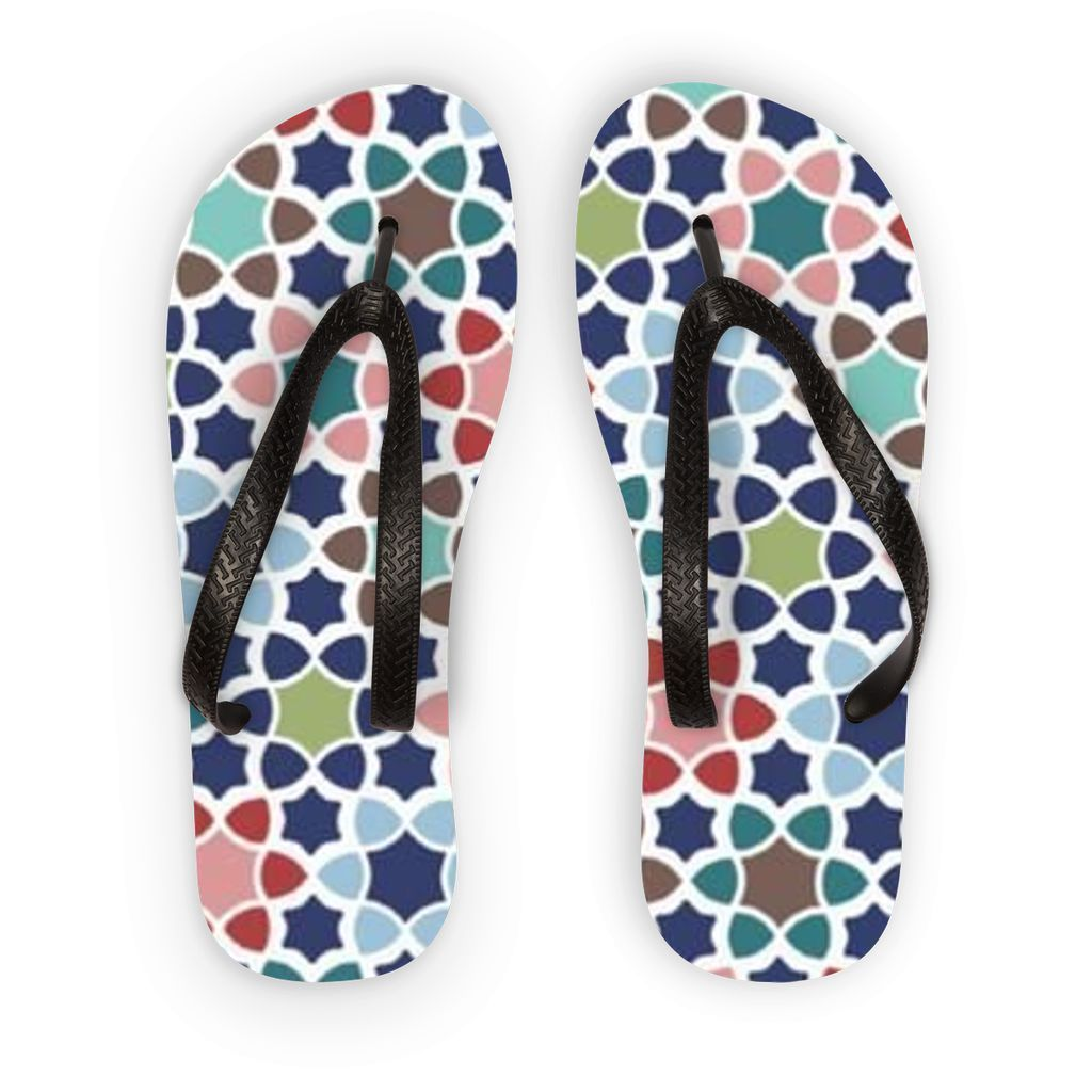 VIRGIN TEEZ Accessories S Pattern 43 Flip Flops