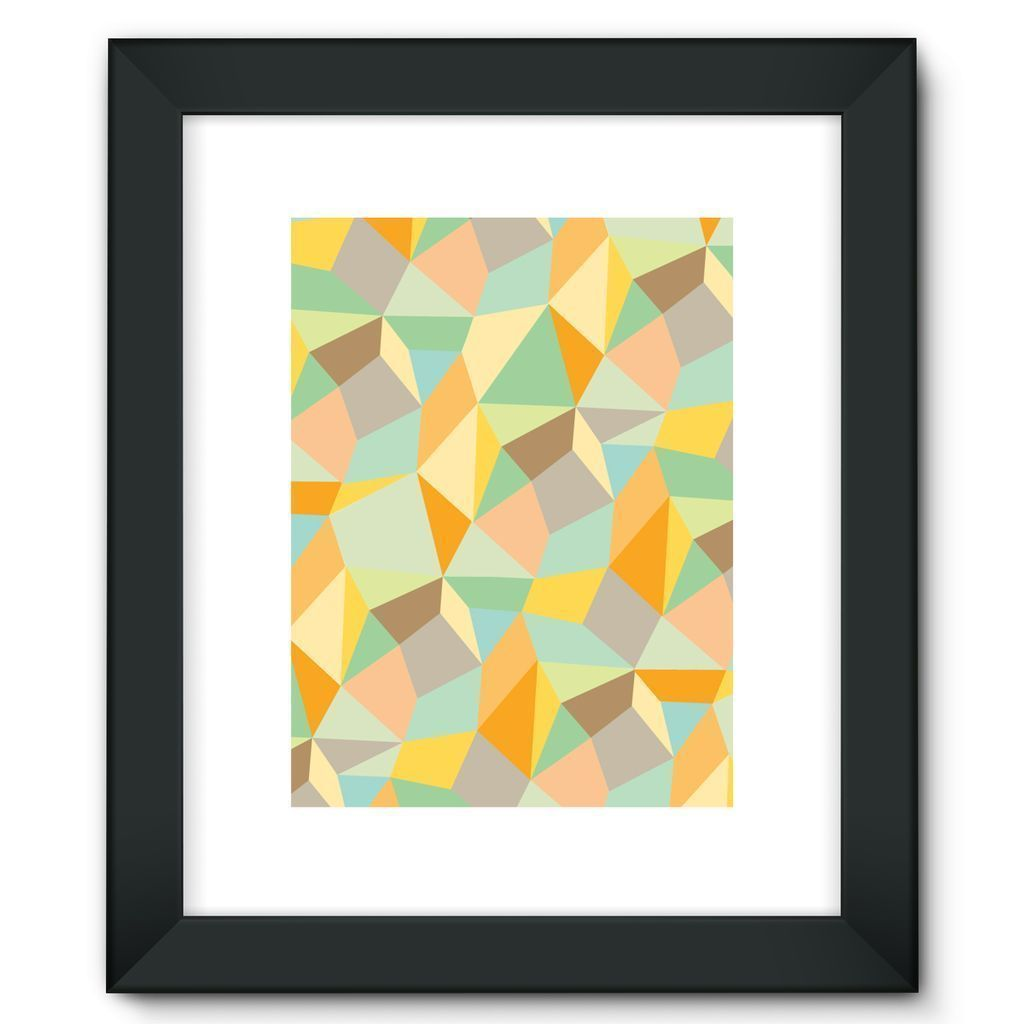 "kite.ly Wall Decor 12""x16"" / Black Pattern 44 Framed Fine Art Print"