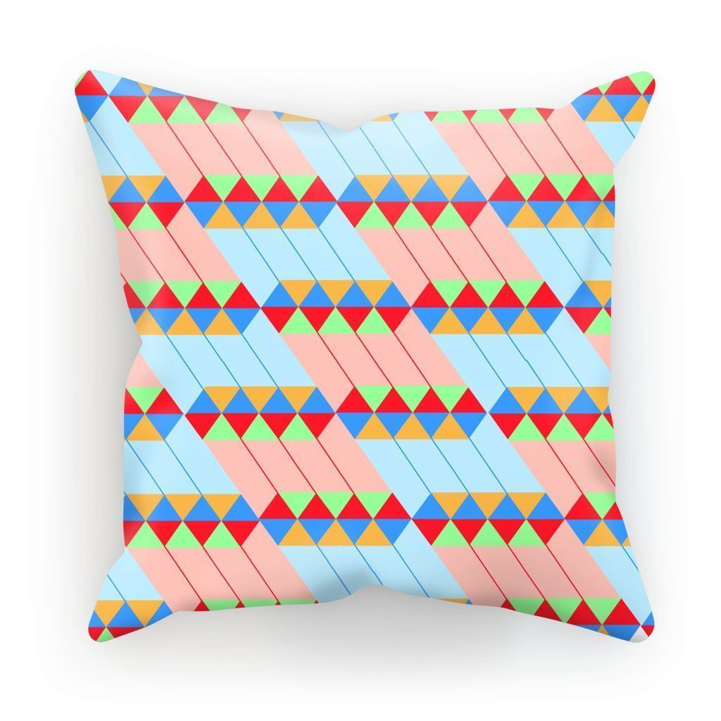 "kite.ly Homeware Linen / 12""x12"" Pattern 45 Cushion"