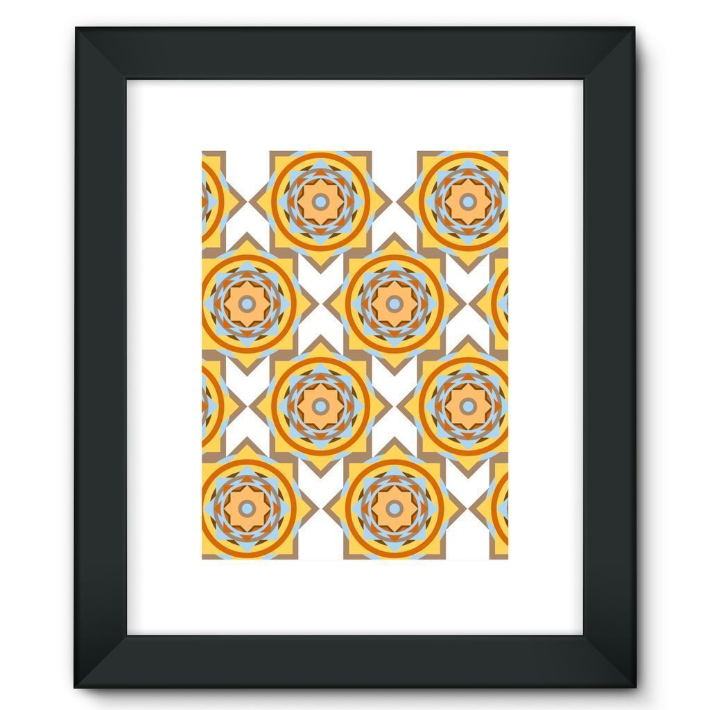 "kite.ly Wall Decor 12""x16"" / Black Pattern 50 Framed Fine Art Print"