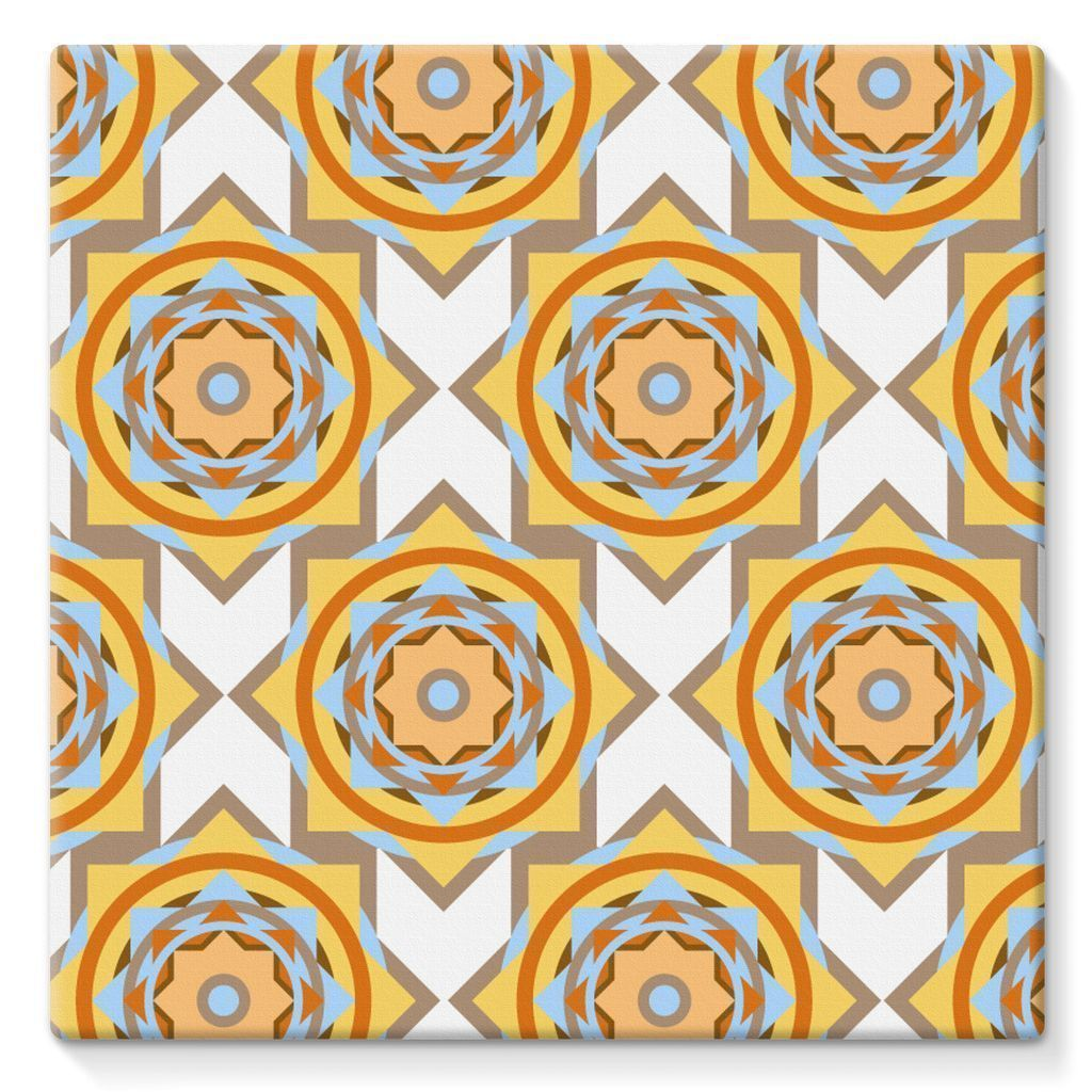 "kite.ly Wall Decor 10""x10"" Pattern 50 Stretched Canvas"