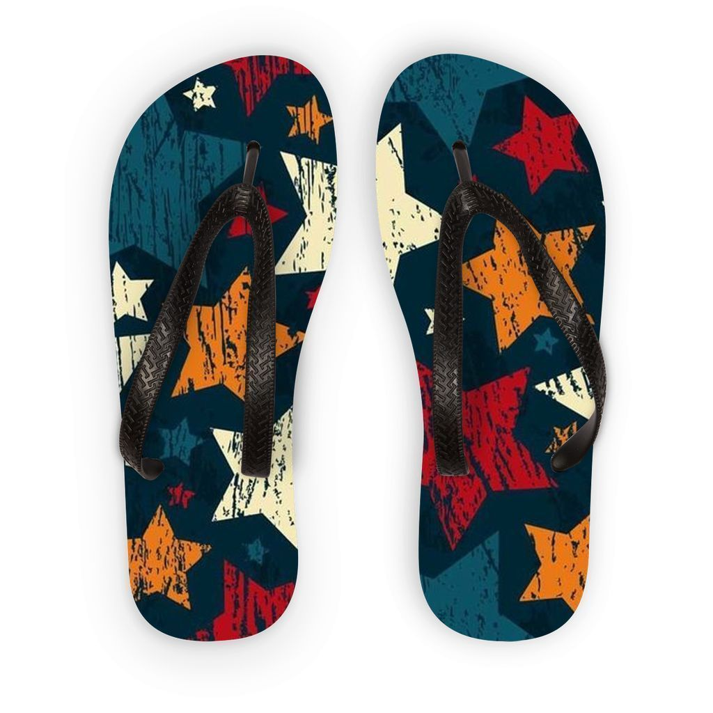VIRGIN TEEZ Accessories S Pattern 7 Flip Flops