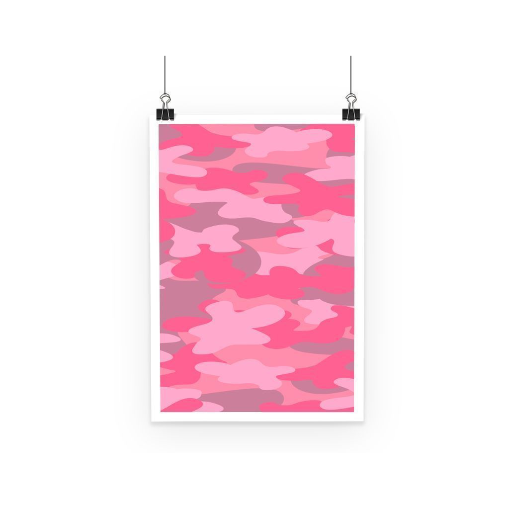 kite.ly Wall Decor A3 Pink Camo Poster