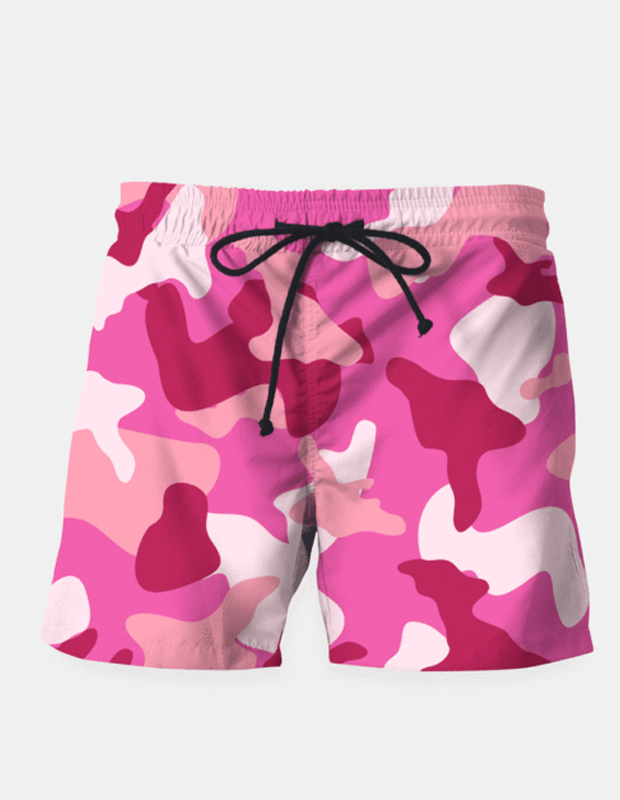 "Maria Shorts SMALL (28""-18"") / us Pink Camouflage Army Pattern Shorts"