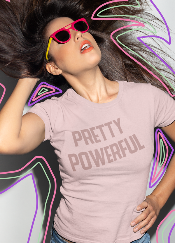 Virgin Teez Women T-Shirt Pretty Powerfull  Women T-shirt