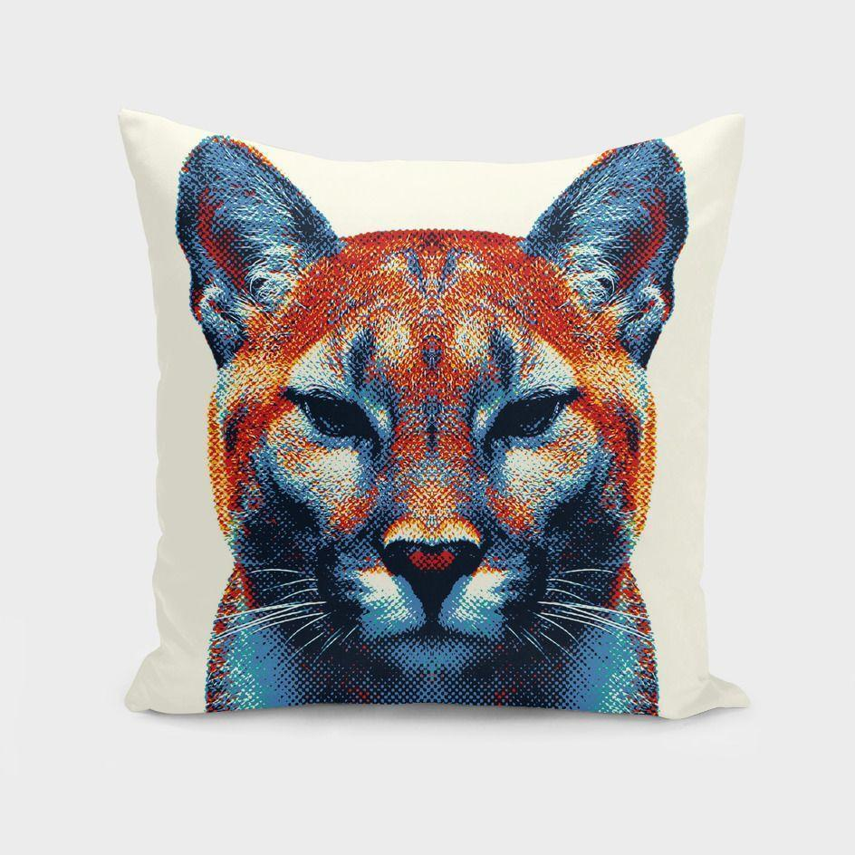 The Pillow pillows Puma - Colorful Animals  Cushion/Pillow