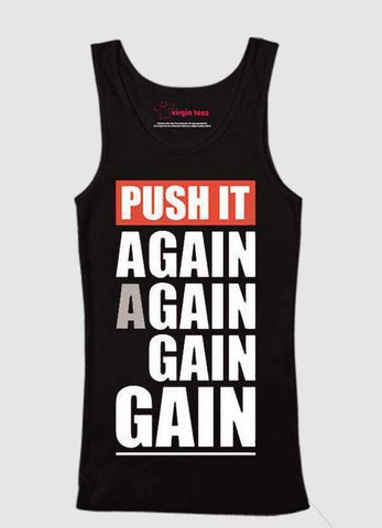 Ali Ahsan Tank Tops Push Again Again Tank Top