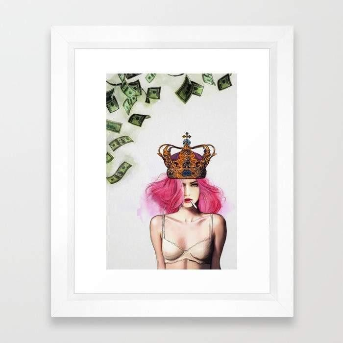 Deny Designs Framed Art Prints Queen Bitch