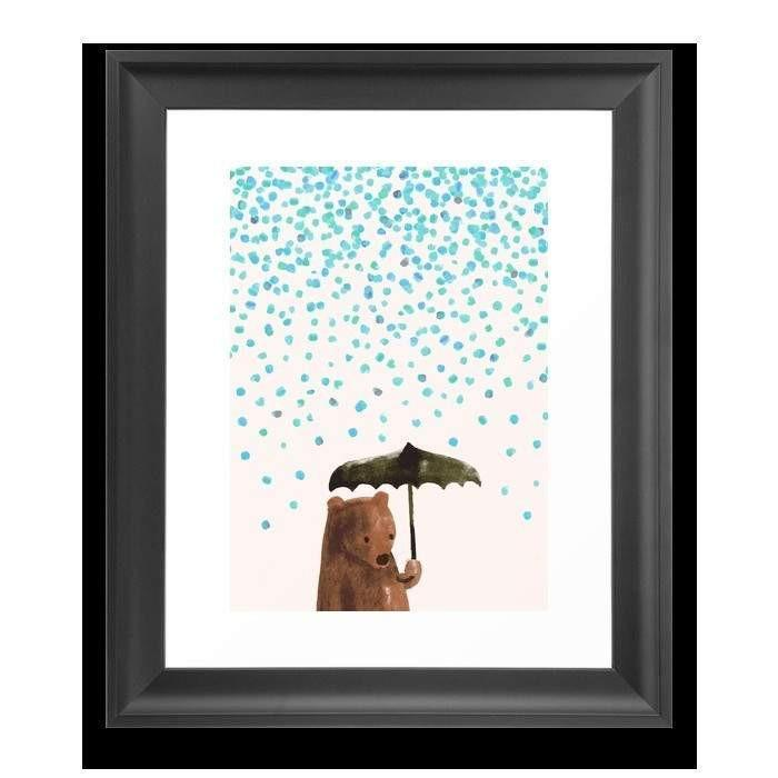 Deny Designs Framed Art Prints Rain rain go away