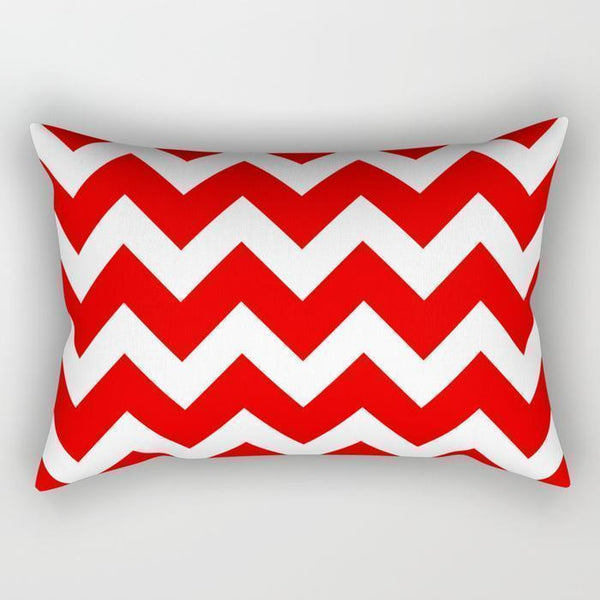 The Pillow pillows Red Waves Rectangle Pillow