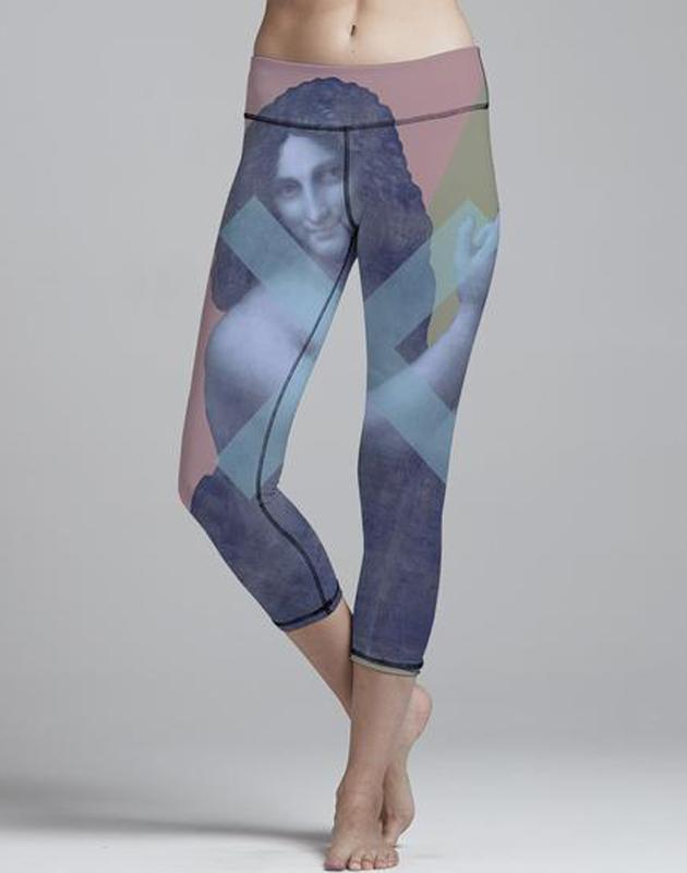 Virgin Teez Leggings Small Sad Mona Legging