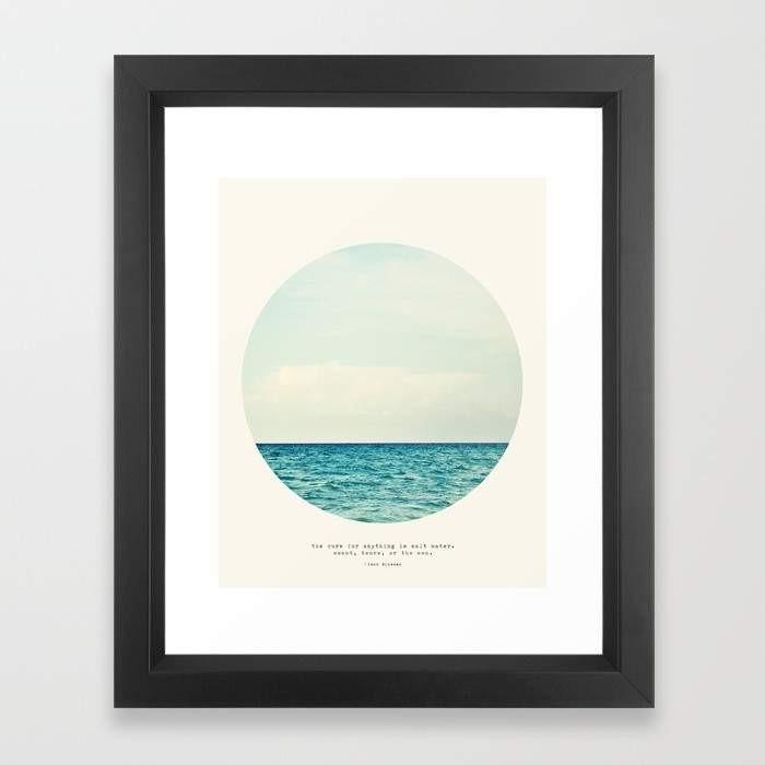 Deny Designs Framed Art Prints Salt Water Cure Frame