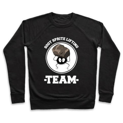 Virgin Teez  Pullover Crewneck Sweatshirt / x-small / Black SOOT SPRITE LIFTING TEAM CREWNECK SWEATSHIRT