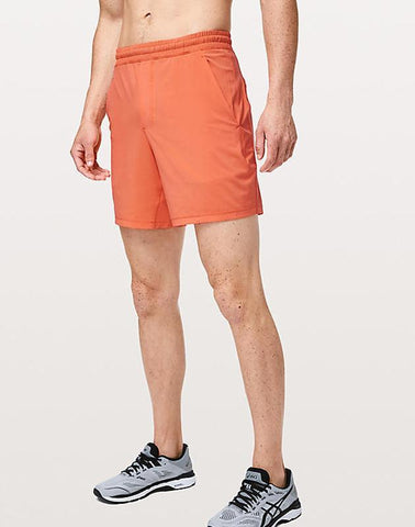 "Ayaz Ahmed Shorts SMALL (28""-18"") Speed Stopper Short 7 Inch Orange"