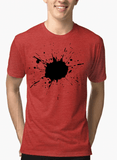 Aneeq Arshad T-shirt SMALL / Red Splatter Half Sleeves Melange T-shirt