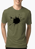 Aneeq Arshad T-shirt SMALL / Green Splatter Half Sleeves Melange T-shirt