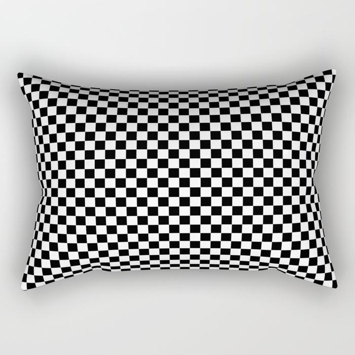 The Pillow pillows Square Black & White Rectangle Pillow