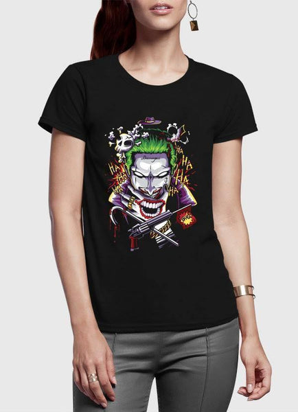 M Nidal Khan Women T-Shirt SMALL / Black Suicide Squad Half Sleeves Women T-shirt