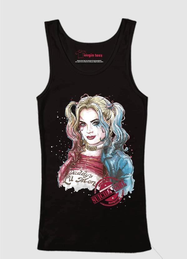 M Nidal Khan Tank Top SMALL / Black Suicide Squad Harley Quin Tank Top