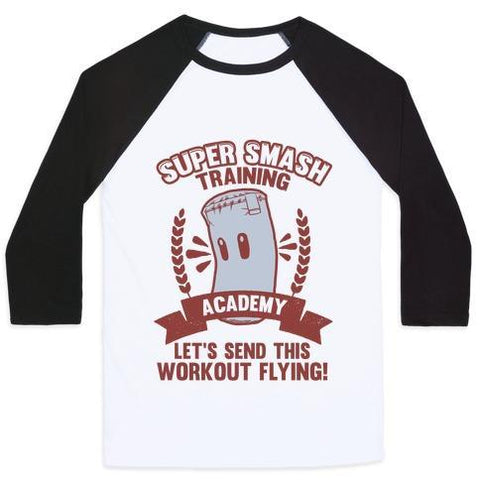 Virgin Teez  Baseball Tee Unisex Classic Baseball Tee / x-small / White/Black SUPER SMASH TRAINING ACADEMY UNISEX CLASSIC BASEBALL TEE