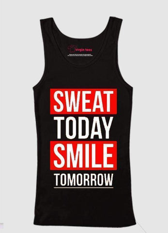 Ali Ahsan Tank Tops Sweat Today Smile Tomorrow Tank Top