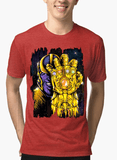 M Nidal Khan T-shirt SMALL / Red Thanos 2 Half Sleeves Melange T-shirt
