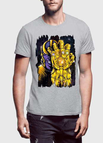 M Nidal Khan T-shirt SMALL / Gray Thanos 2 Half Sleeves T-shirt