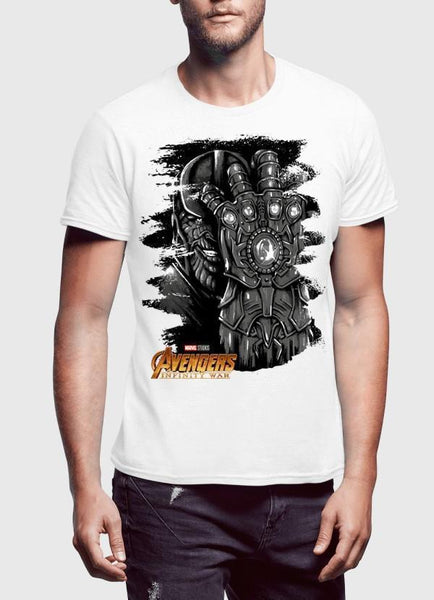 M Nidal Khan T-shirt SMALL / White Thanos Avengers Half Sleeves T-shirt