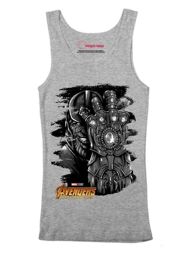 M Nidal Khan Tank Top SMALL / Gray Thanos Avengers Tank Top