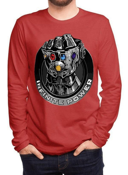 M Nidal Khan T-shirt SMALL / Red Thanos Infinite Power Full Sleeves T-shirt