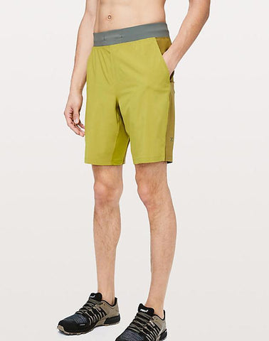 "Ayaz Ahmed Shorts SMALL (28""-18"") THE Short 9 inch Golden Lime"
