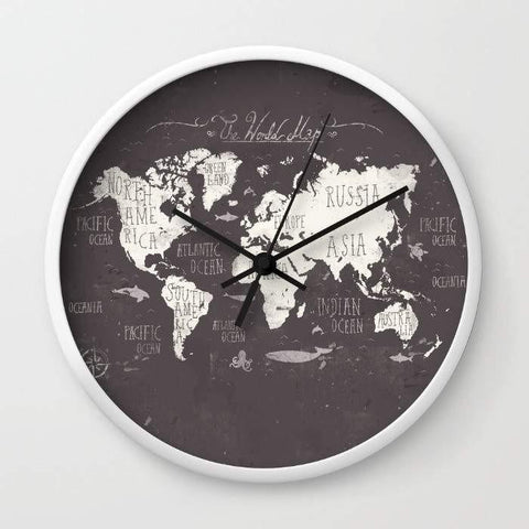 Dany Designs Wall Clock The World Map Wall clock