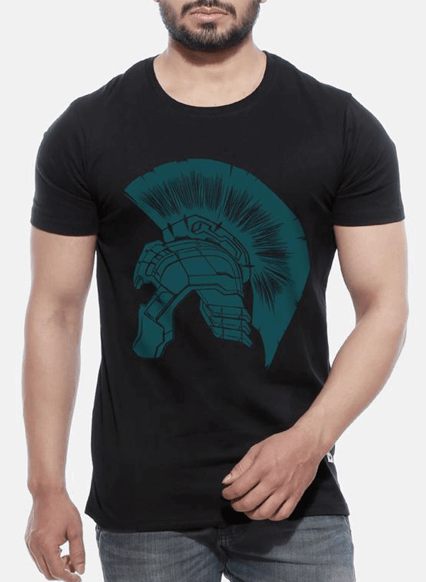 Tipu Sultan T-shirt SMALL / Black Thor Ragnarok - Hulk Helmet Half Sleeves T-shirt