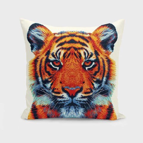 Saadana Shanmukam pillows Tiger - Colorful Animals Pillow