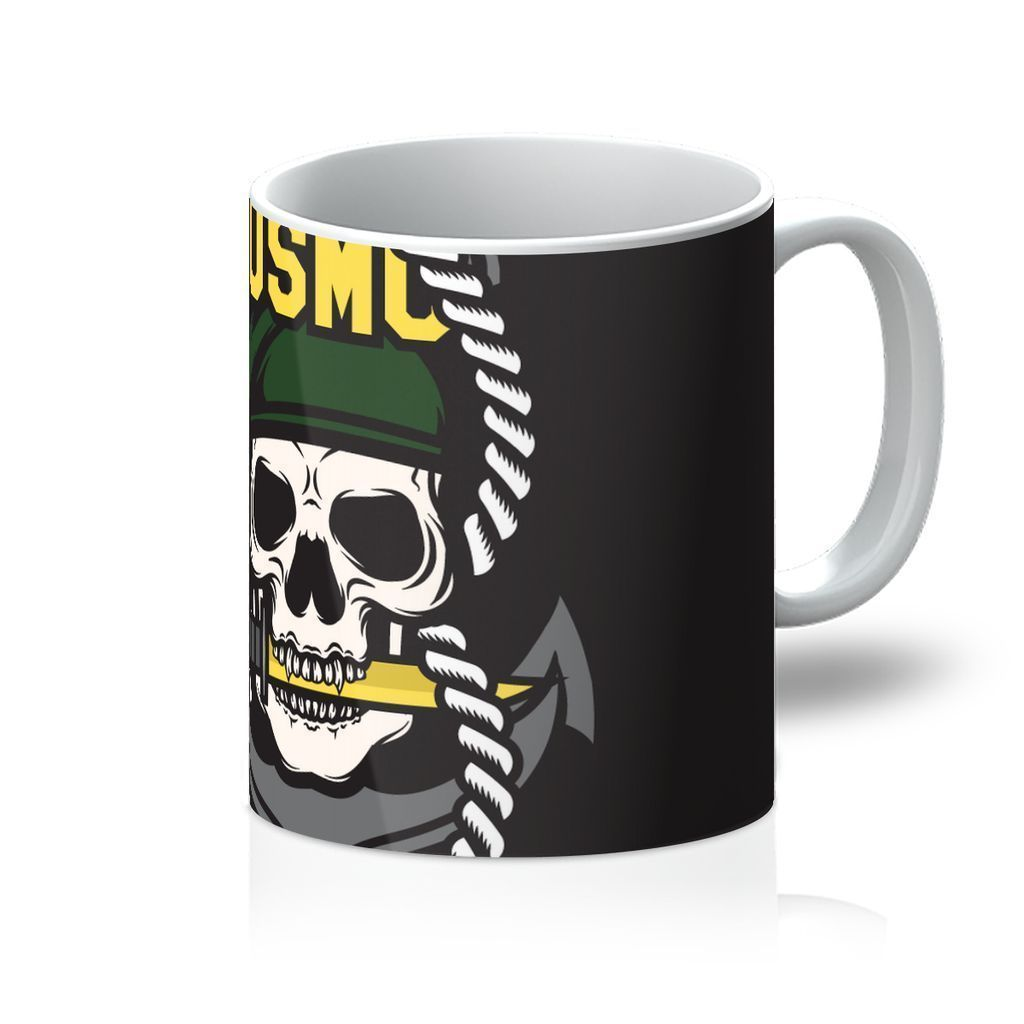 VIRGIN TEEZ Homeware 11oz USMC Skull 1 Mug