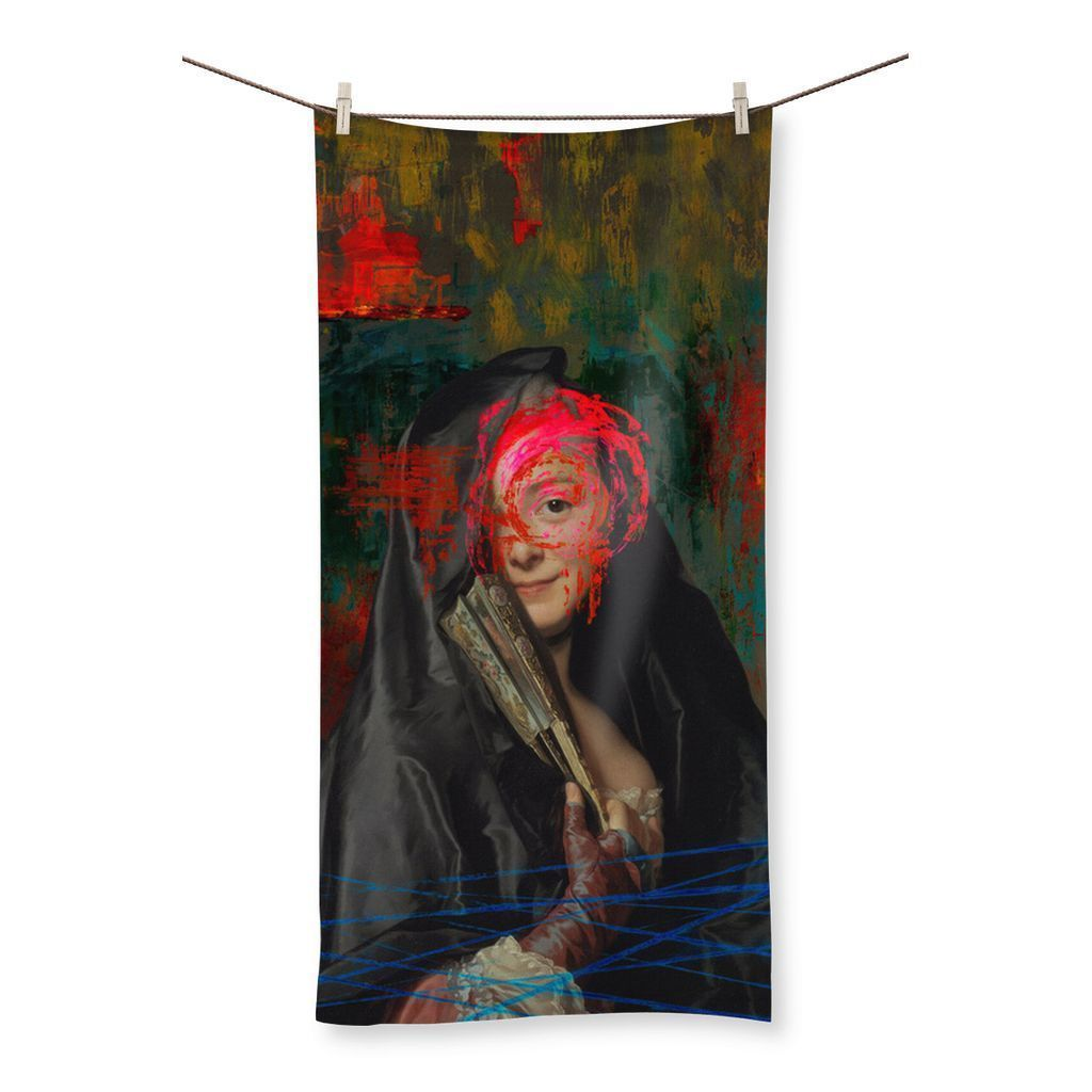 "kite.ly Homeware 19.7""x39.4"" Vandalism Beach Towel"
