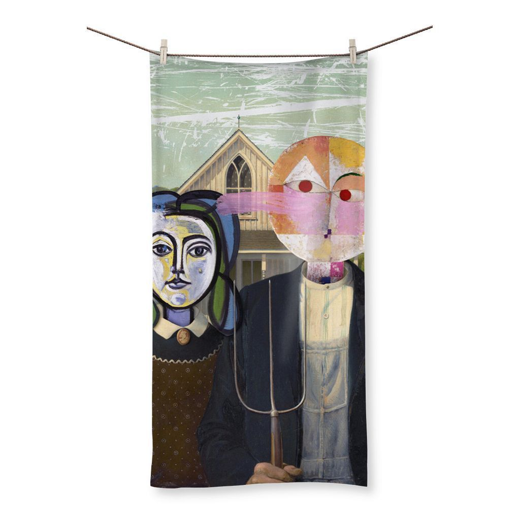 "kite.ly Homeware 19.7""x39.4"" Venus and Mars Beach Towel"
