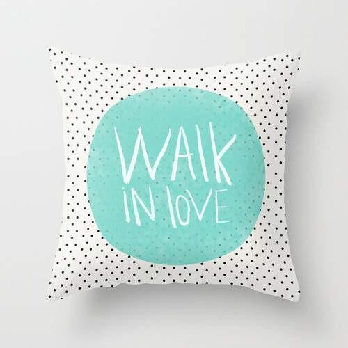 The Pillow pillows Walk in love polka dots Cushion/Pillow
