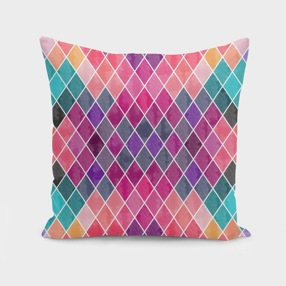 The Pillow pillows Watercolor Geometric Patterns II  Cushion/Pillow