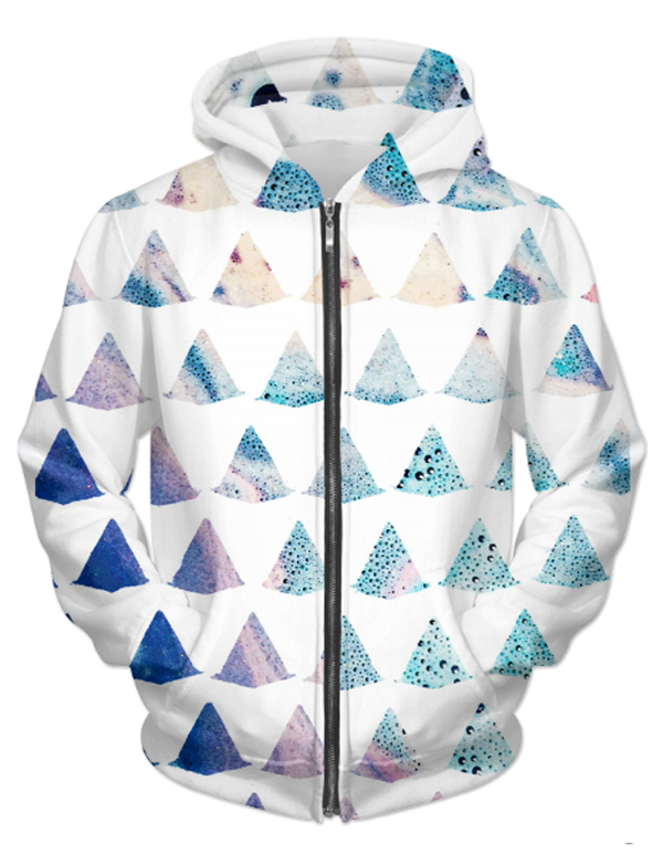 Virgin Teez Sublimation Hoodie Watercolor Geometry UNISEX ZIP HOODIE
