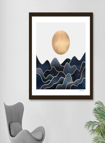 LUVD Framed Art Prints Waves   Frame
