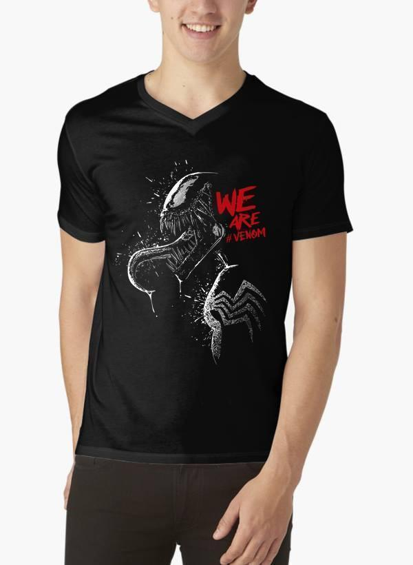 M Nidal Khan T-shirt SMALL / Black We are Venom V-Neck T-shirt