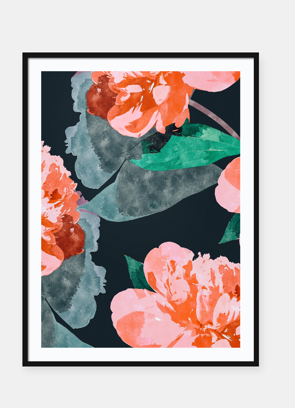 LUVD Framed Art Prints Wild Flower  Frame