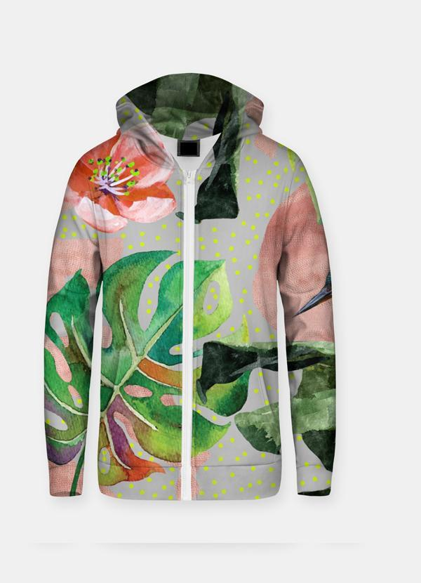 Virgin Teez Sublimation Hoodie Wild Forest Sublimation Zip Hoodie